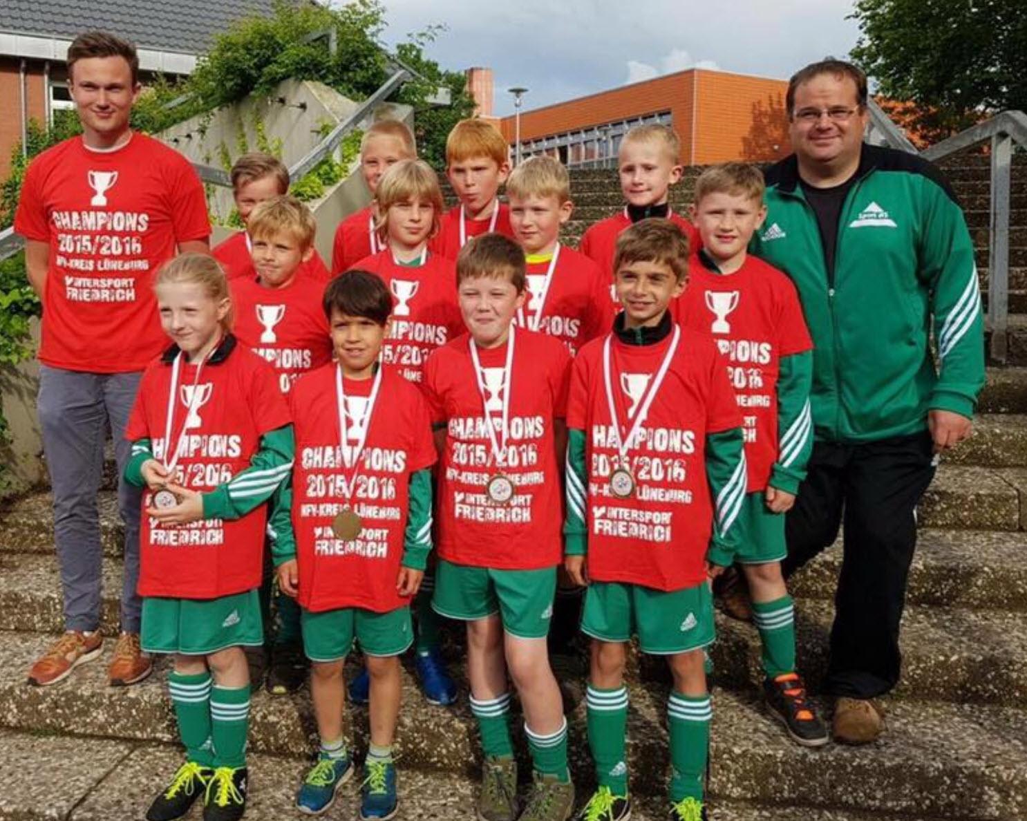 TSV Bardowick: Staffelsieger der U12   TSV Bardowick: Staffelsieger der U9