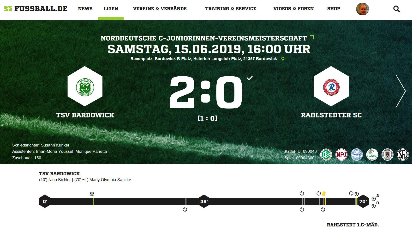 C-Juniorinnen erreichen Finale gegen SV Werder Bremen